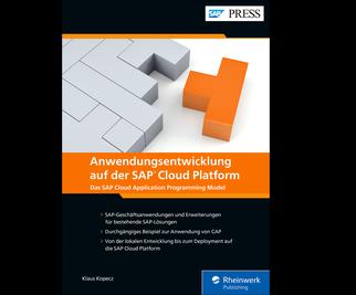 Cover von Anwendungsentwicklung auf der SAP Cloud Platform