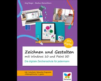 Cover von Zeichnen und gestalten mit Windows 10 und Paint 3D