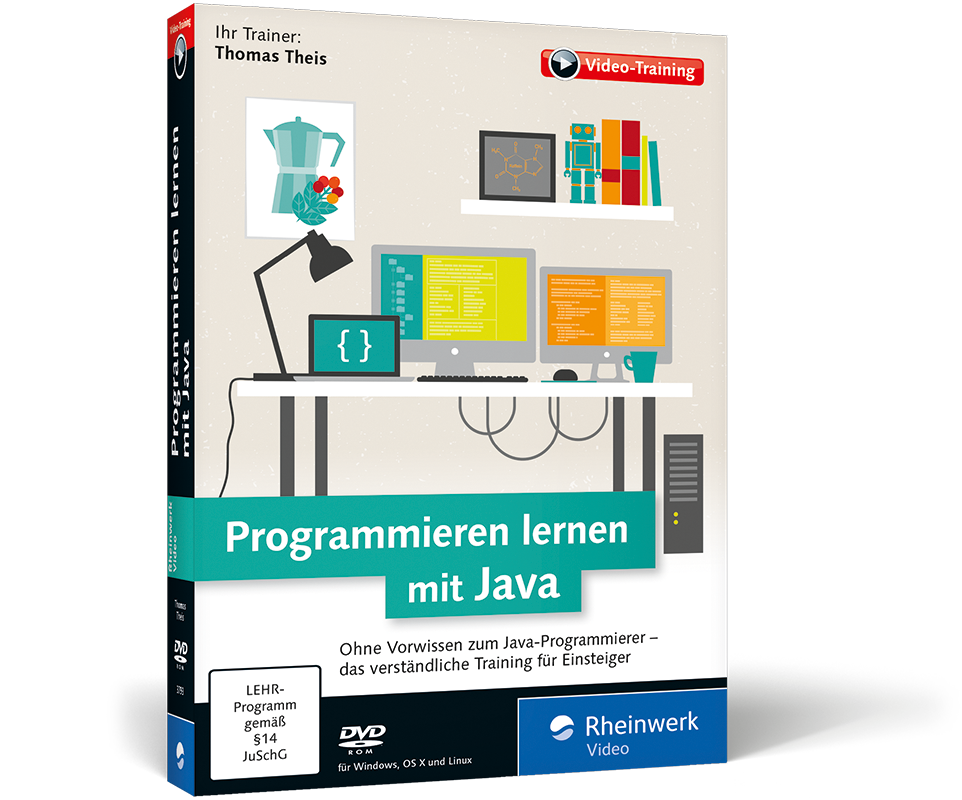 programmieren lernen mit java das video training. Black Bedroom Furniture Sets. Home Design Ideas