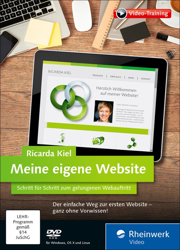 Wie Erstelle Ich Meine Eigene Website meine eigene website das ricarda kiel rheinwerk