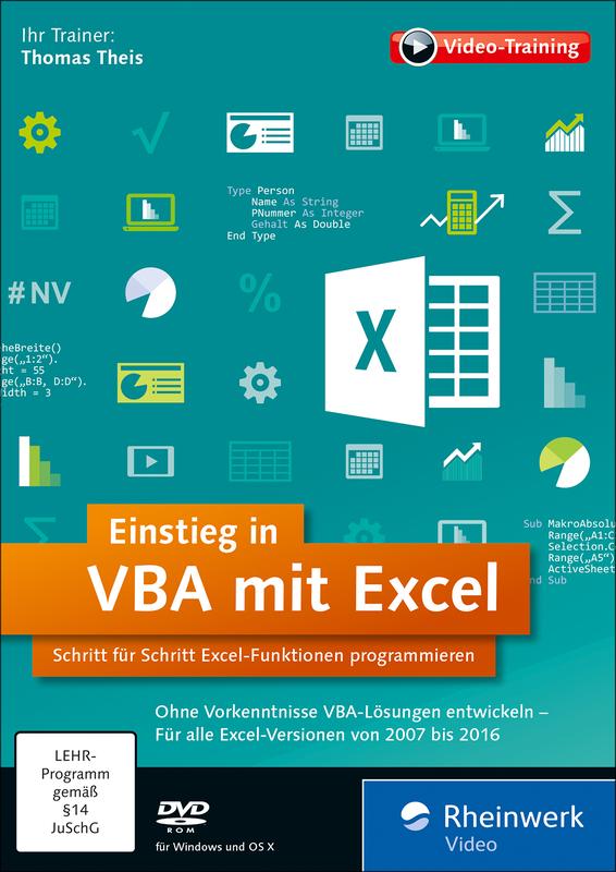 Einstieg In Vba Mit Excel Das Video Training Mit Thomas Theis