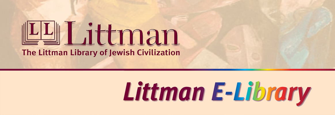 Littman E-Library of Jewish Civilization hero image