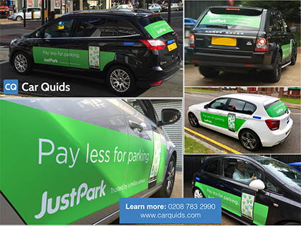 justpark car advertising car quids