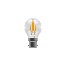 4W LED Filament Clear Round Dimmable - BC, 2700K