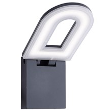MANHATTAN LED OUTDOOR - WALL BRACKET, DARK GREY, FROSTED DIFFUSER