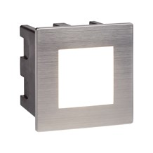ANKLE LED INDOOR/OUTDOOR RECESSED SQUARE, STAINLESS STEEL, OPAL WHITE DIFFUSER
