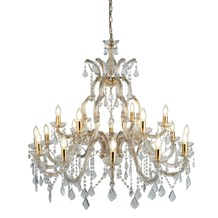 MARIE THERESE - 18LT CHANDELIER, POLISHED BRASS, CLEAR CRYSTAL