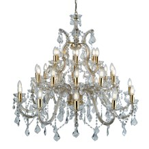 MARIE THERESE - 30LT CHANDELIER, POLISHED BRASS, CLEAR CRYSTAL