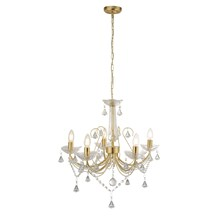 LAFAYETTE - 5LT CEILING, GOLD, CLEAR CRYSTAL