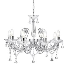 LAFAYETTE - 8LT CEILING, CHROME, CLEAR CRYSTAL