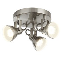 FOCUS - 3LT SATIN SILVER INDUSTRIAL SPOTLIGHT DISC