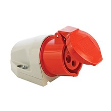 16A 415v 4 Pin Socket Red