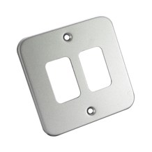 2 Gang Metal Clad Front Plate