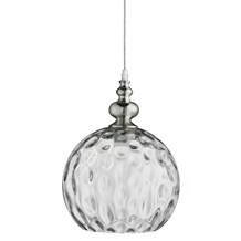 INDIANA - 1LT PENDANT, SATIN SILVER, CLEAR GLASS