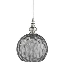 INDIANA - 1LT PENDANT, CHROME WITH SMOKE GLASS