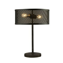 FISHNET 2LT TABLE LAMP, MATT BLACK