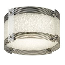 SHELBY LED FLUSH LIGHT, DIMMABLE, CHROME/CRYSTAL GLASS