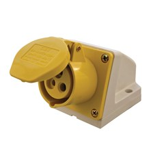 32A 110V 3Pins Ang. Socket Yellow