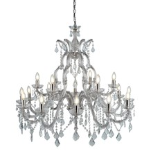 MARIE THERESE - 18LT CHANDELIER, CHROME, CLEAR CRYSTAL