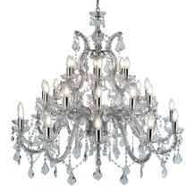 MARIE THERESE - 30LT CHANDELIER, CHROME, CLEAR CRYSTAL