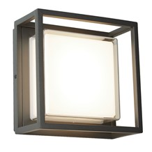 OHIO OUTDOOR LED SQUARE, DARK GREY, OPAL WHITE/CLEAR DIFFUSER WB/FLUSH