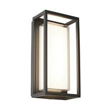 OHIO OUTDOOR LED RECTANGLE, DARK GREY, OPAL WHITE/CLEAR DIFFUSER WB/FLUSH