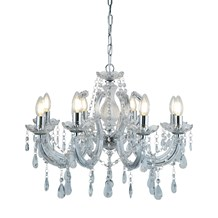 MARIE THERESE - 8LT CEILING, CHROME, CLEAR CRYSTAL GLASS