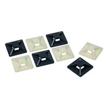 4 Way Adhesive Base Cable Ties Nylon (Black)