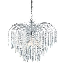 WATERFALL - 5LT CEILING, CHROME, CLEAR CRYSTAL