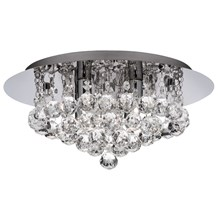 BATHROOM IP44 (G9 LED) 4LT CHROME FLUSH CL XTAL BALL