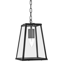 VOYAGER 1LT LANTERN TAPERED BLACK WITH CLEAR GLASS