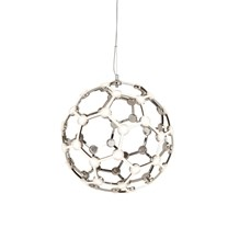 MAGIC LED GLOBE FRAME PENDANT, CHROME