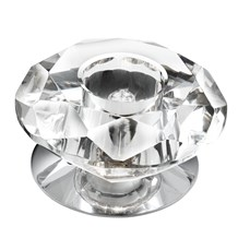 FLUSH - DOWNLIGHTER - 1LT CC/CLEAR DIAMOND GLASS