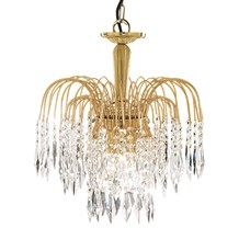 WATERFALL - 3LT CEILING, GOLD, CLEAR CRYSTAL