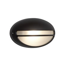 LED OUTDOOR & PORCH 60W BLACK OVAL WB/FLUSH
