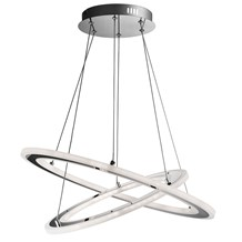 SOLEXA - LED 2 HOOPS CEILING, CHROME, FROSTED ACRYLIC