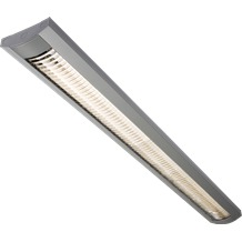 230V IP20 2x58W 5ft Surface Mounted HF Fluorescent Fitting Grey