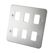 6 Gang Metal Clad Front Plate