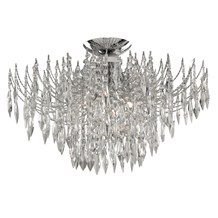 WATERFALL - 4LT CEILING S/FLUSH, CHROME, CLEAR CRYSTAL