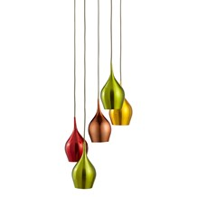 VIBRANT 5LT MULTI-DROP COLOURED (RED, GREEN, GOLD, COPPER) SHADES