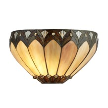 PEARL, TIFFANY WALL LIGHT, CLEAR/BROWN/PURPLE