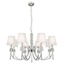 PORTICO CC/GLASS 8LT PEND - WH STRING SHADE