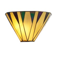 CHARLESTON TIFFANY WALL LIGHT, YELLOW/MULTI