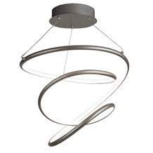 MAGIC LED PENDANT, SATIN SILVER