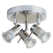 ARIES (GU10 LED) IP44 3LT CC ROUND SPOTLIGHT PLATE