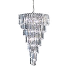 SIGMA 9LT CHROME CHANDELIER WITH CLEAR ACRYLIC RODS
