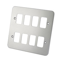 8 Gang Metal Clad Front Plate