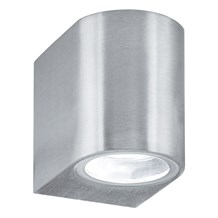 LED OUTDOOR & PORCH (GU10 LED) IP44 WALL LIGHT 1LT SILVER