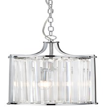 VICTORIA 2LT PENDANT, CHROME WITH CRYSTAL GLASS