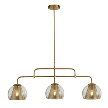 CONIO 3LT PENDANT, SATIN BRASS AND CLEAR GLASS